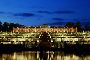 Palace Sanssouci at night